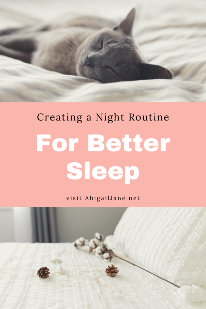 creating a night time routine