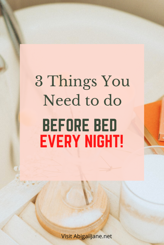 creating a night routine